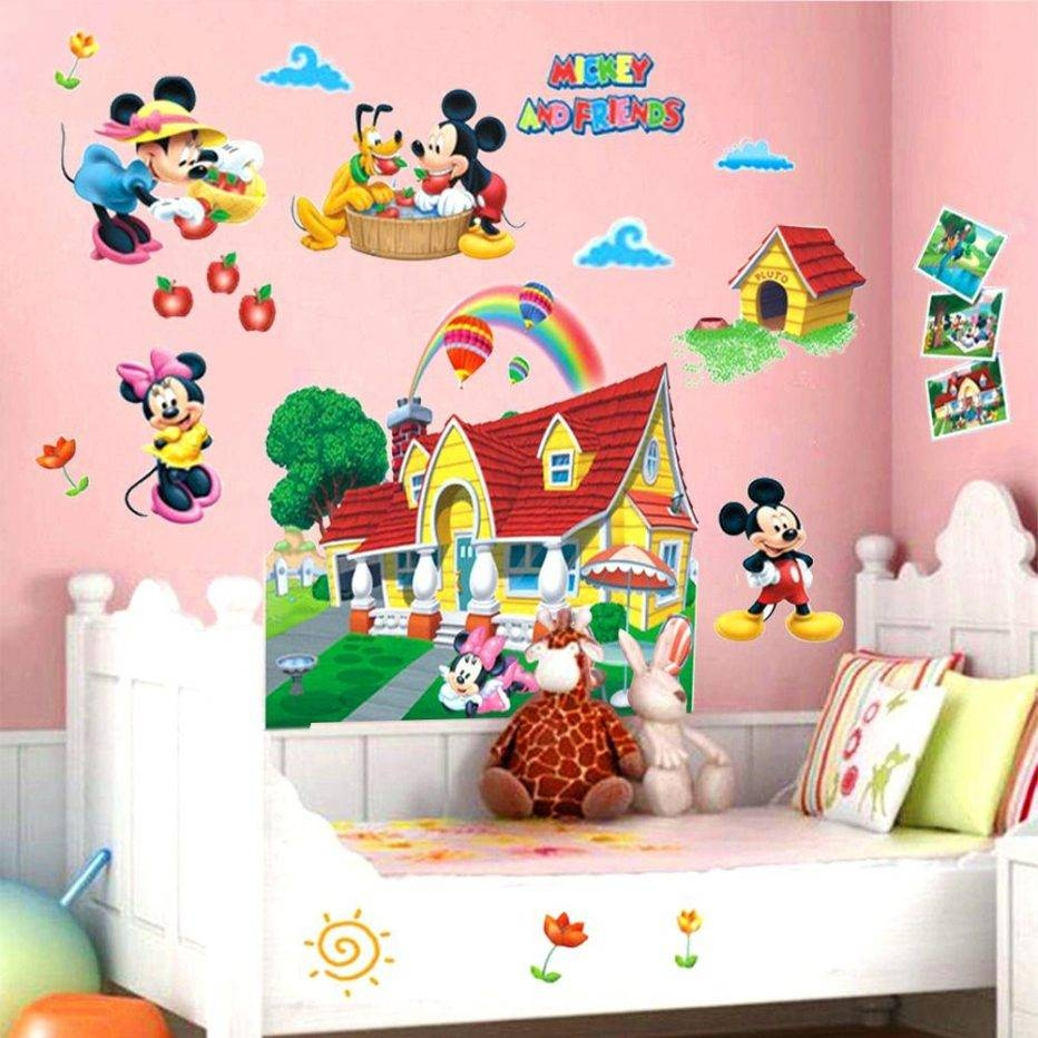 Wall Decor : Wall Ideas N020 2016 New Mickey Mouse Wall Decals Within 2018 Mickey  Mouse