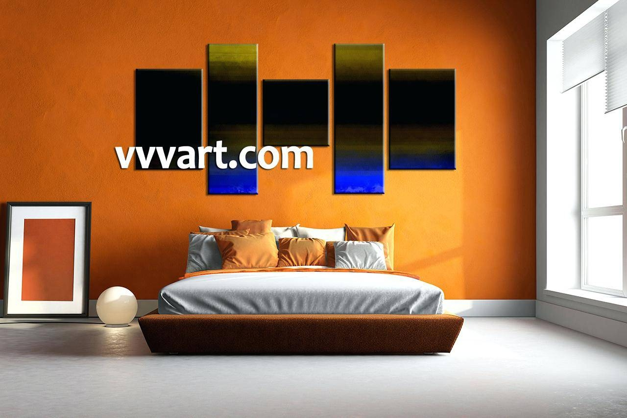 Wall Decor : Wall Interior Bedroom Artwork 5 Piece Canvas Wall Art Intended For Most Up To Date Multi Panel Canvas Wall Art (View 6 of 20)
