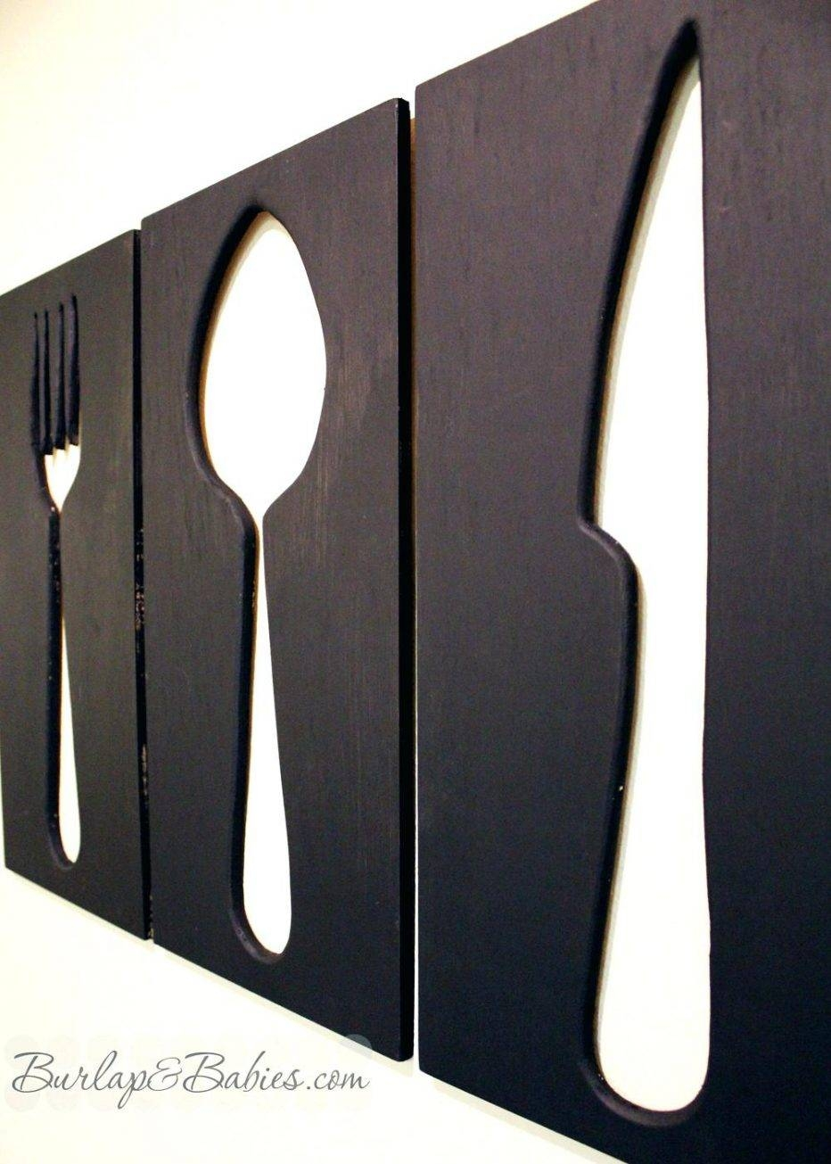 Wall Decor : Wall Interior Kitchen Utensils Wall Art Kitchen Throughout Latest Large Utensil Wall Art (View 4 of 20)