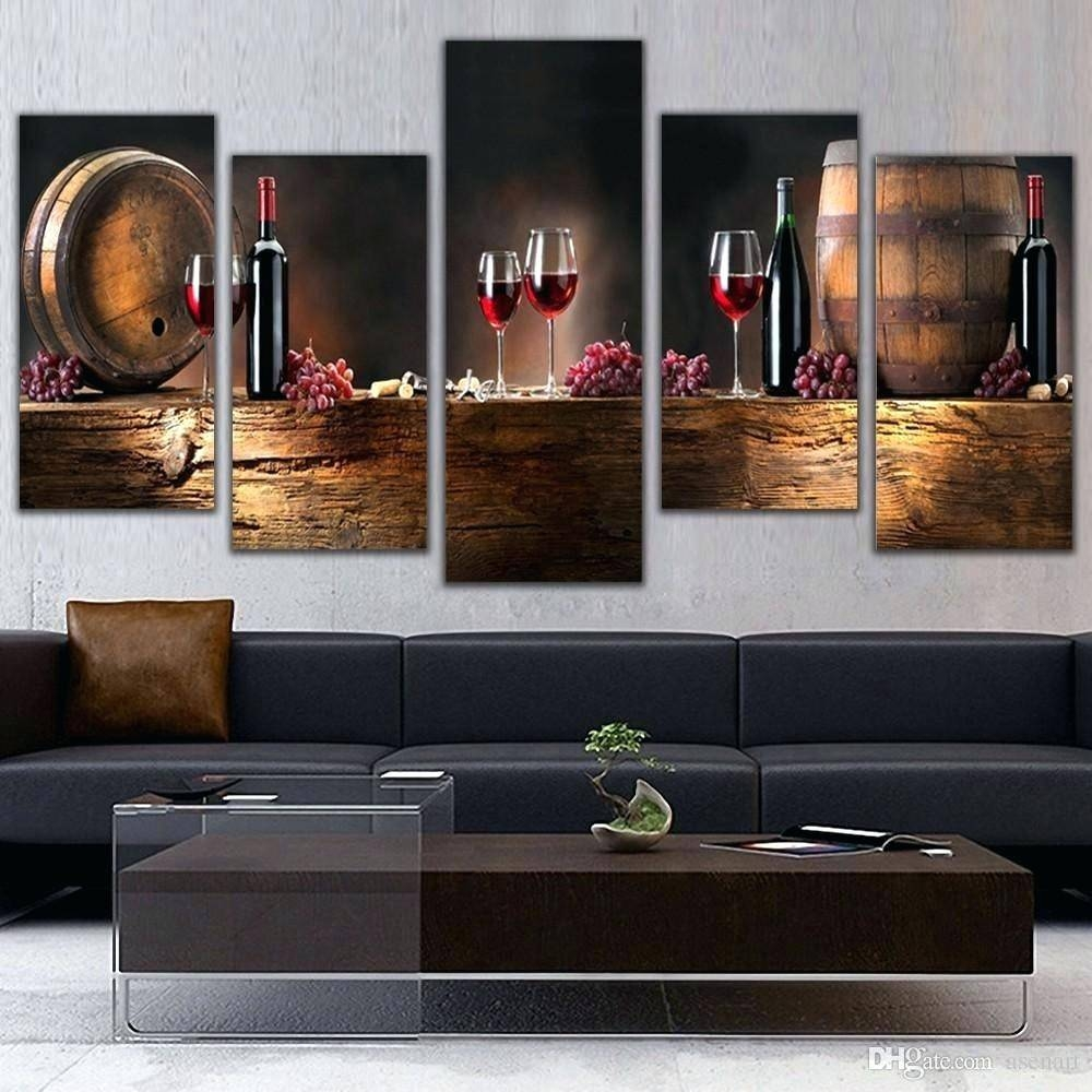 Wall Decor : Wine Themed Kitchen Wall Decor Cozy Bedroom Wall Pertaining To 2018 Grape Wall Art (View 12 of 22)