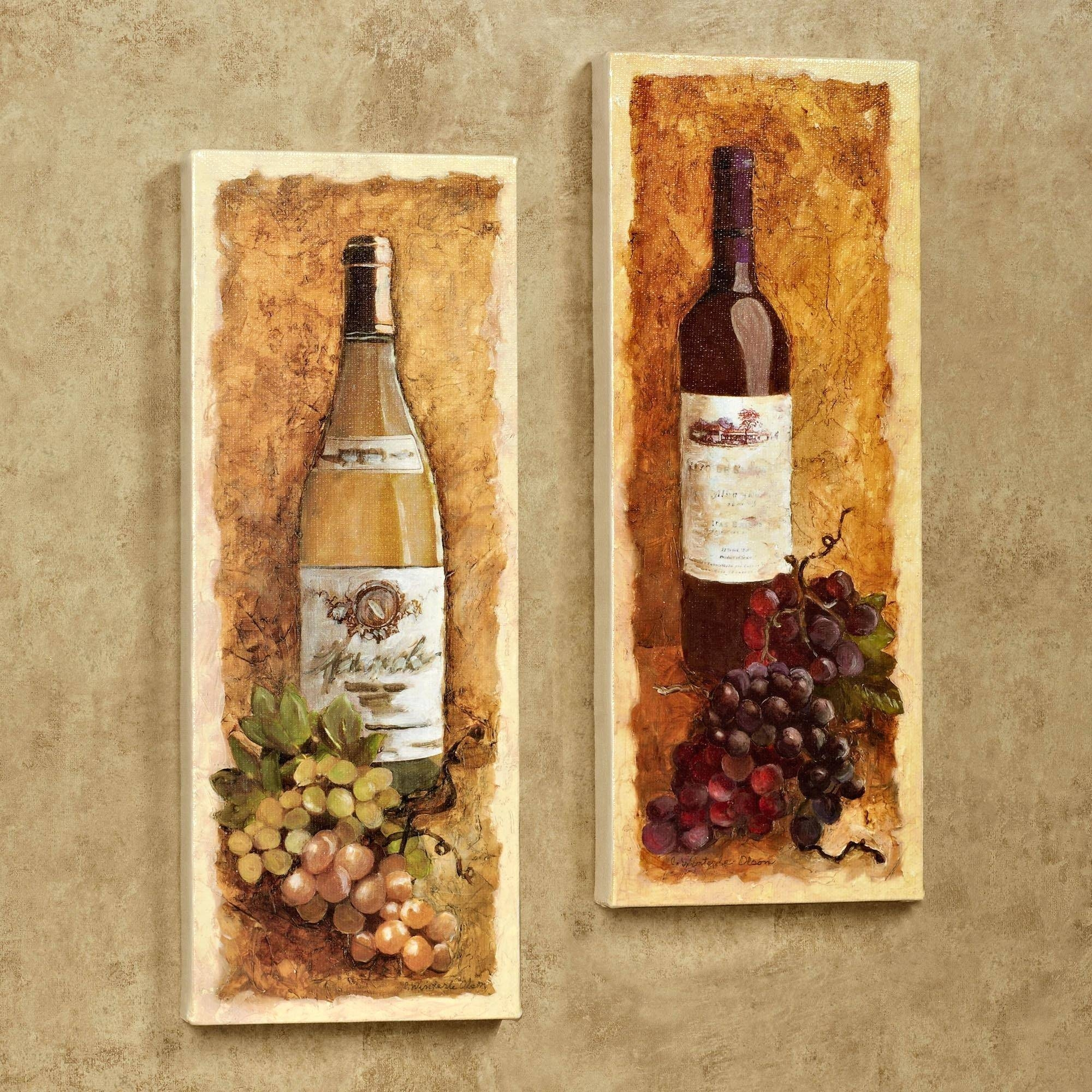 Wall Decor : Wine Themed Wall Decor 102 Fascinating Wine And Grape With Most Recent Wine Theme Wall Art (View 13 of 20)