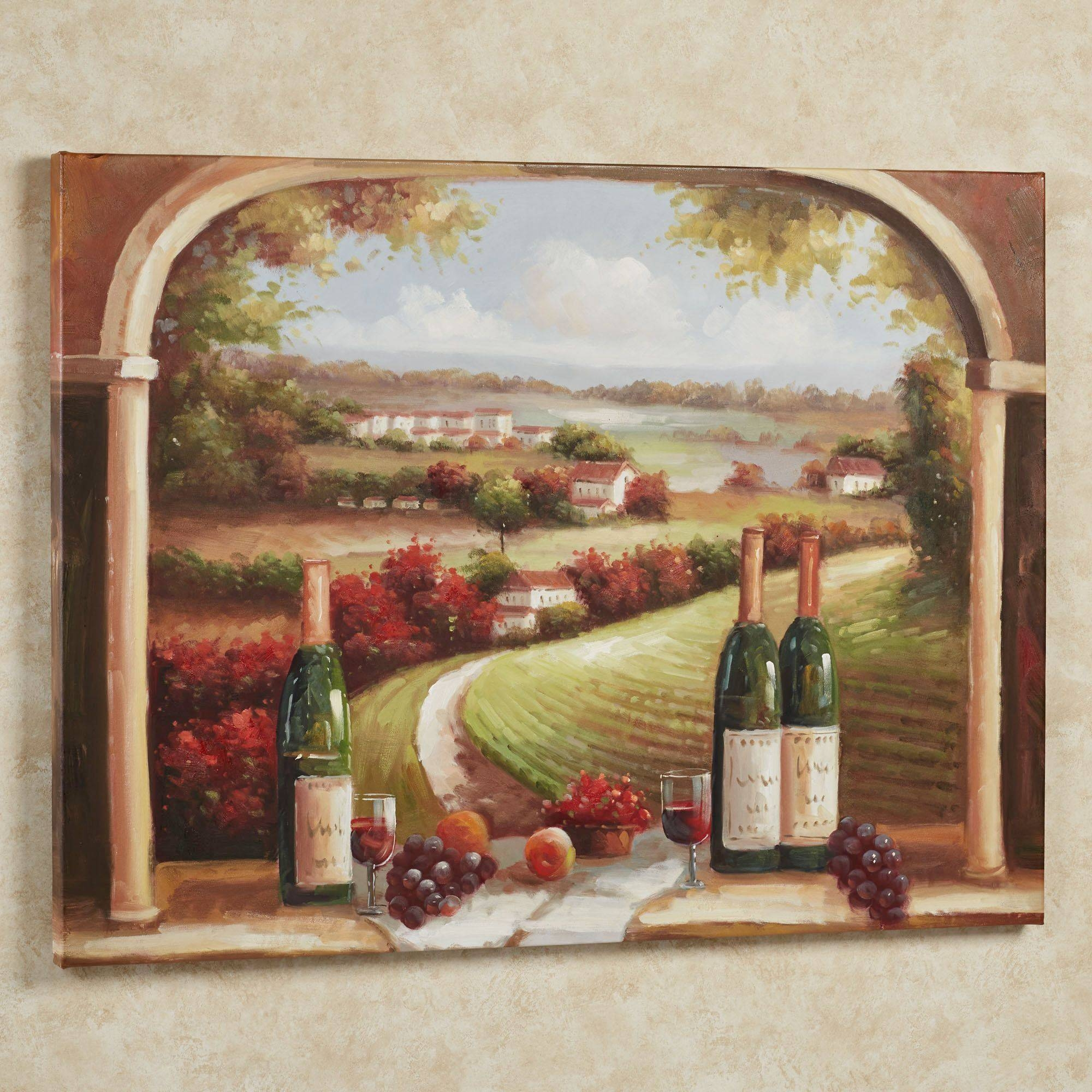 Wall Decor: Wine Wall Art Images. Wine Wall Art For Kitchen. Wine Within Most Up To Date Wine Theme Wall Art (Gallery 7 of 20)