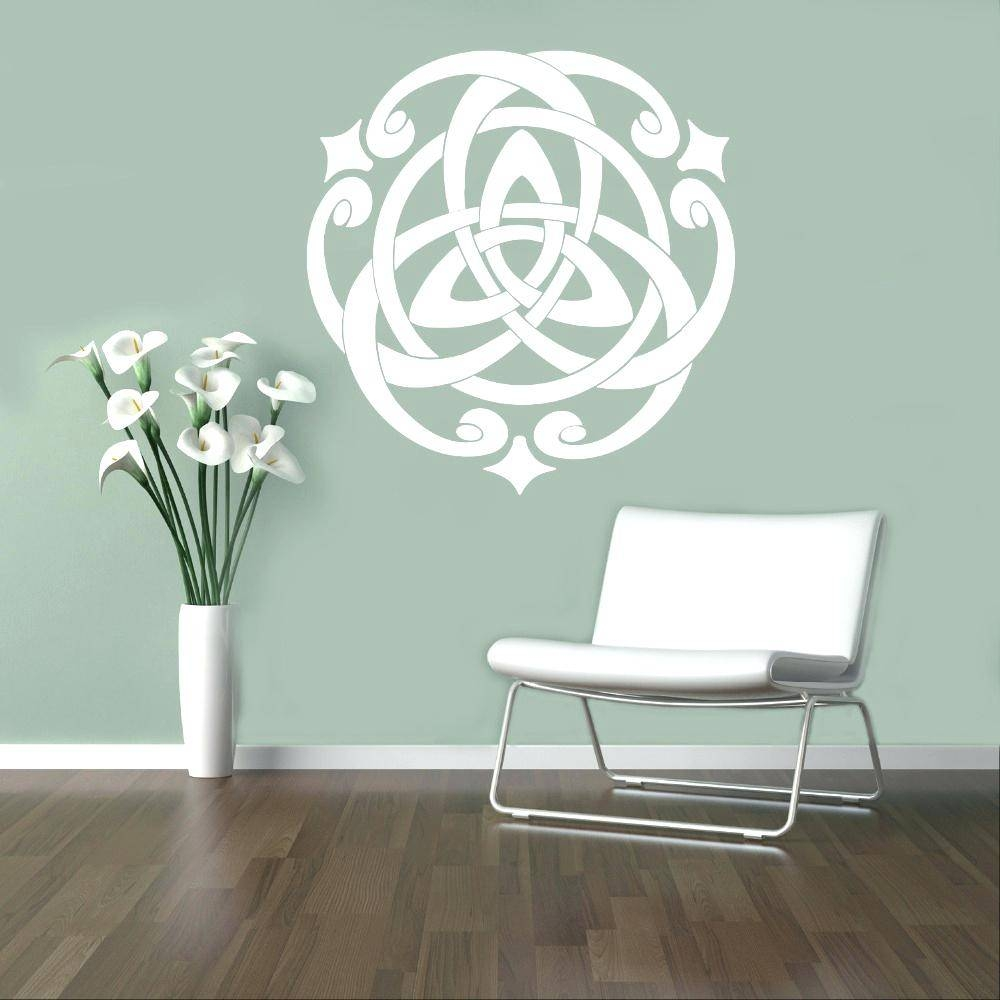 Wall Decor : Winsome Celtic Pattern Wall Decal Modern Design Vinyl In Recent Modern Vinyl Wall Art (View 13 of 14)