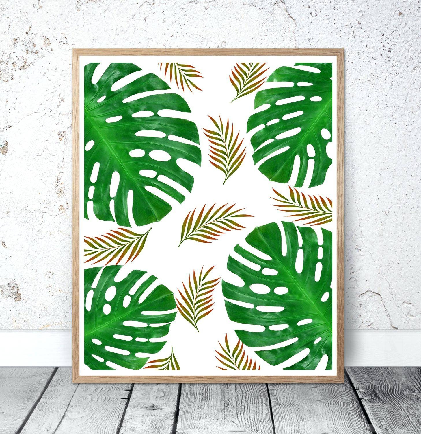 Image Gallery of Palm Leaf Wall Art (View 14 of 20 Photos)