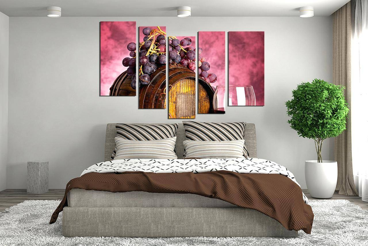 Wall Decor : Wondrous 3 Piece Canvas Wall Art Wine Multi Panel Regarding Best And Newest Multiple Piece Canvas Wall Art (View 24 of 25)