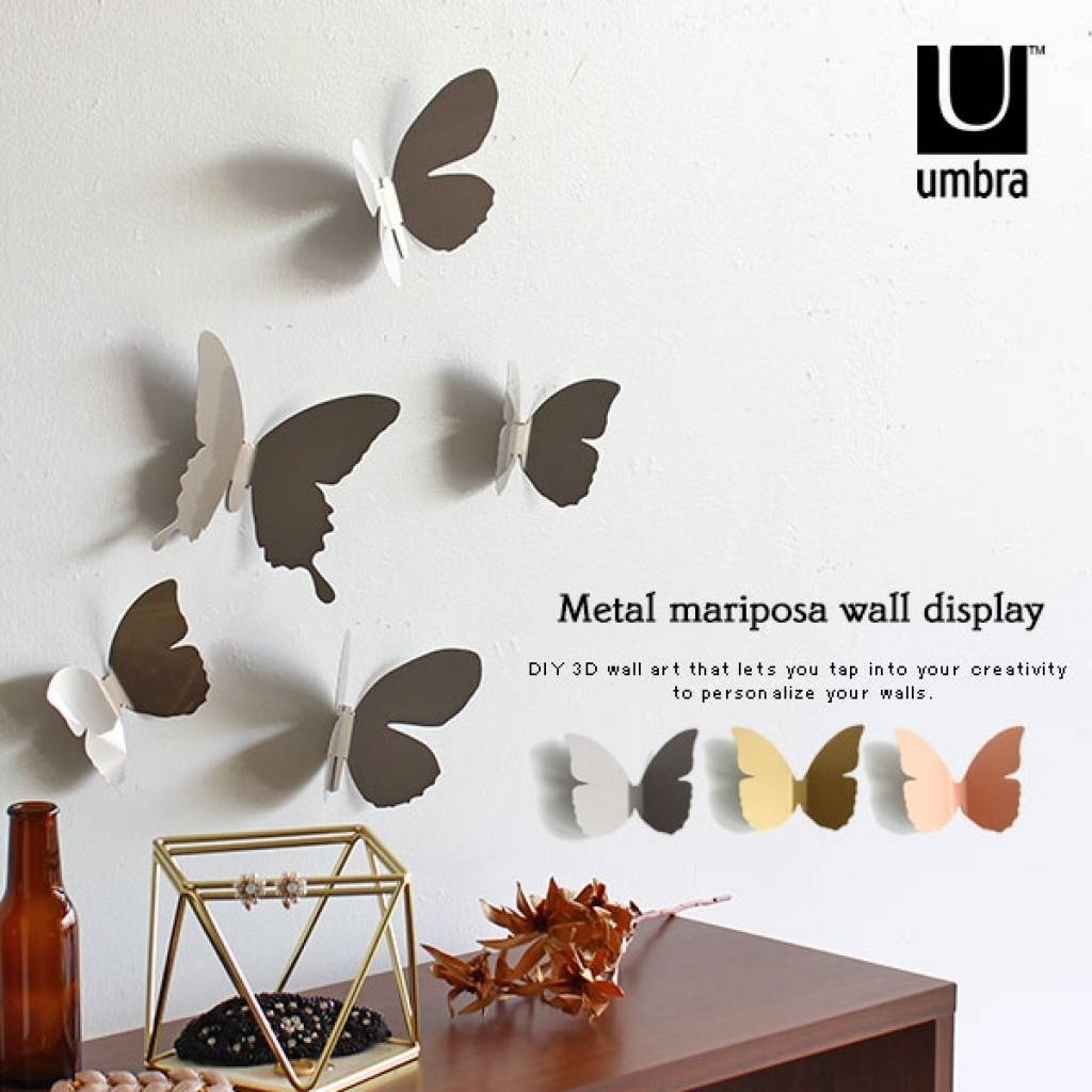 Wall Decoration Butterfly | Home Interior Wall Decoration Pertaining To Latest Umbra 3d Wall Art (View 6 of 20)