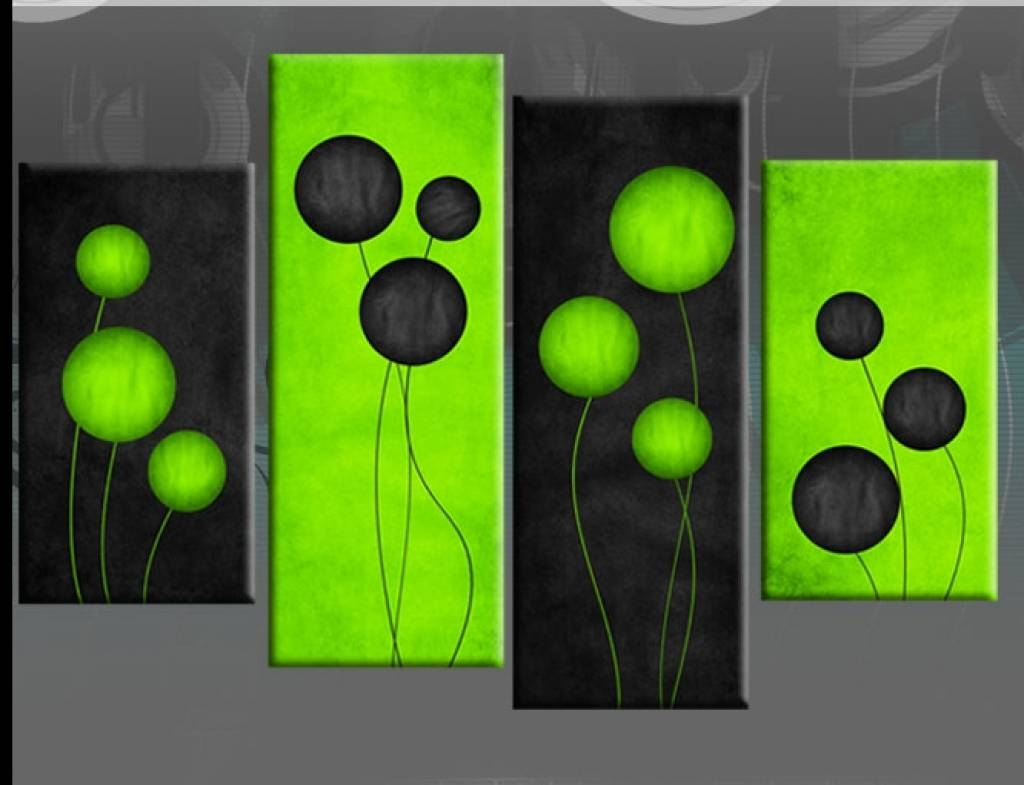 Wall Decorations :8 Green Canvas | Decor Woo Lime Green Wall Decor Regarding Recent Lime Green Wall Art (View 9 of 20)