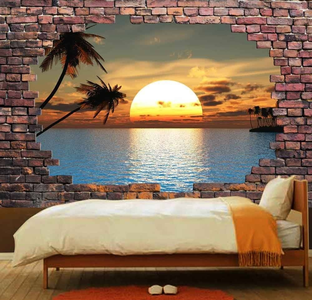 Wall Design: Brick Wall Mural Pictures. Brick Wall Mural (View 3 of 20)