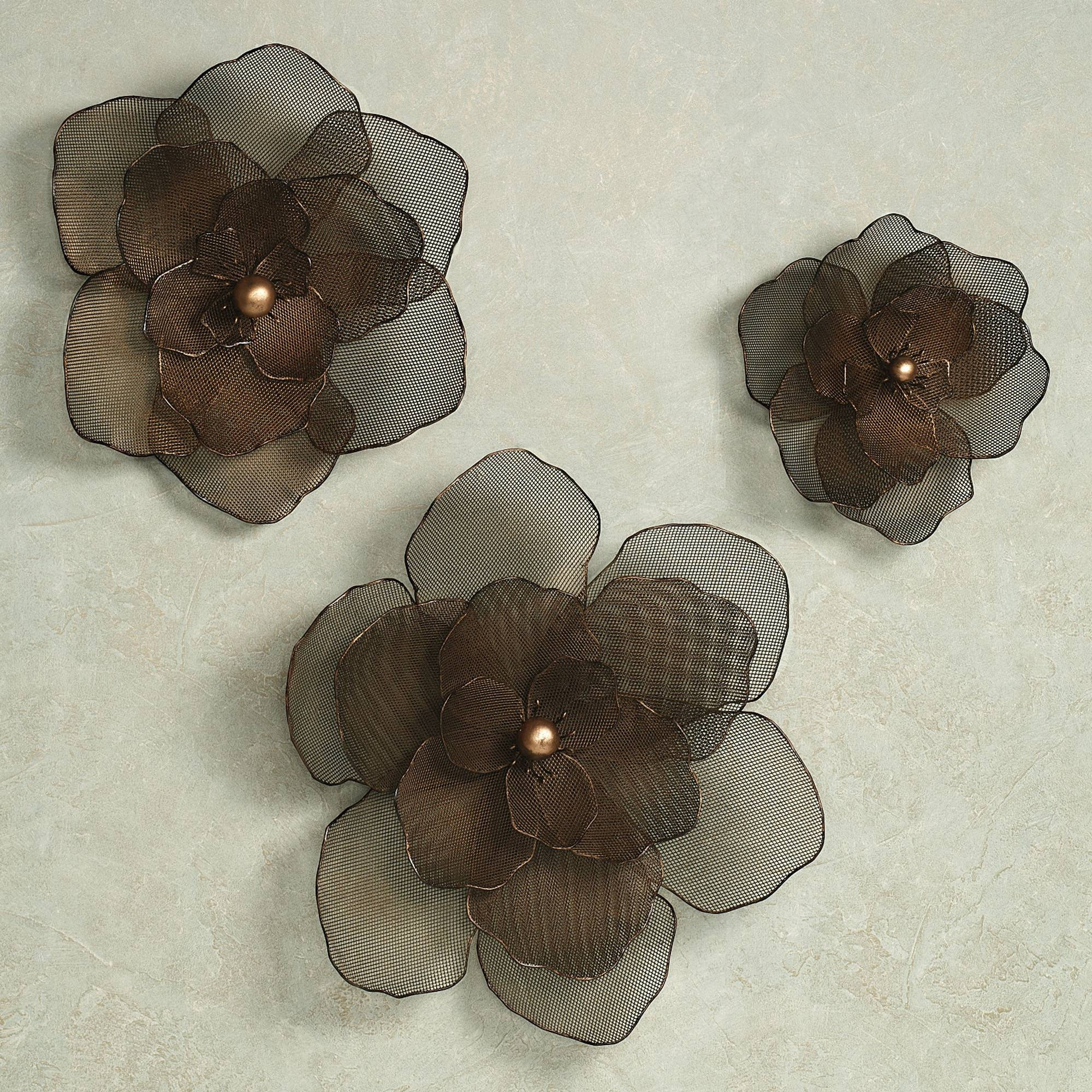 Wall Design: Metal Wall Art Flowers Pictures (View 22 of 25)