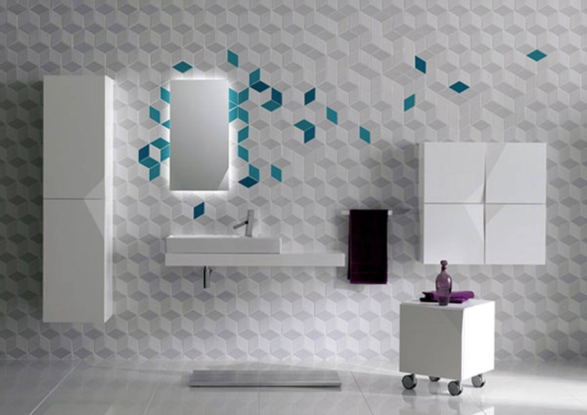 Wall Design Tiles Images | Rift Decorators With Regard To Recent 3D Wall Art For Bathroom (View 19 of 20)