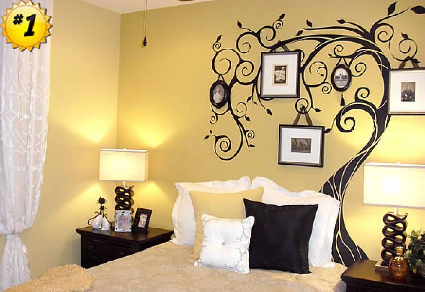 Wall Designs For Bedroom Paint | The Best Bedroom Inspiration Inside Newest Bed Wall Art (View 6 of 25)