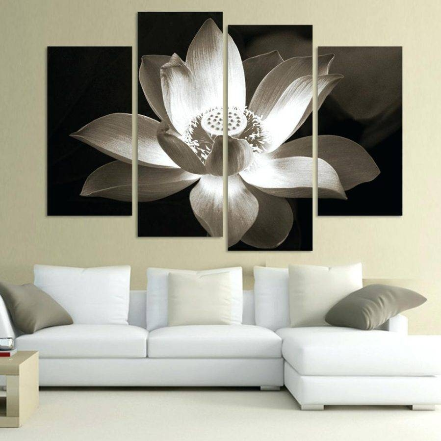 Wall Ideas : 3D White Flower Wall Art Black And White Flower With Regard To 2017 Ceramic Flower Wall Art (View 28 of 30)