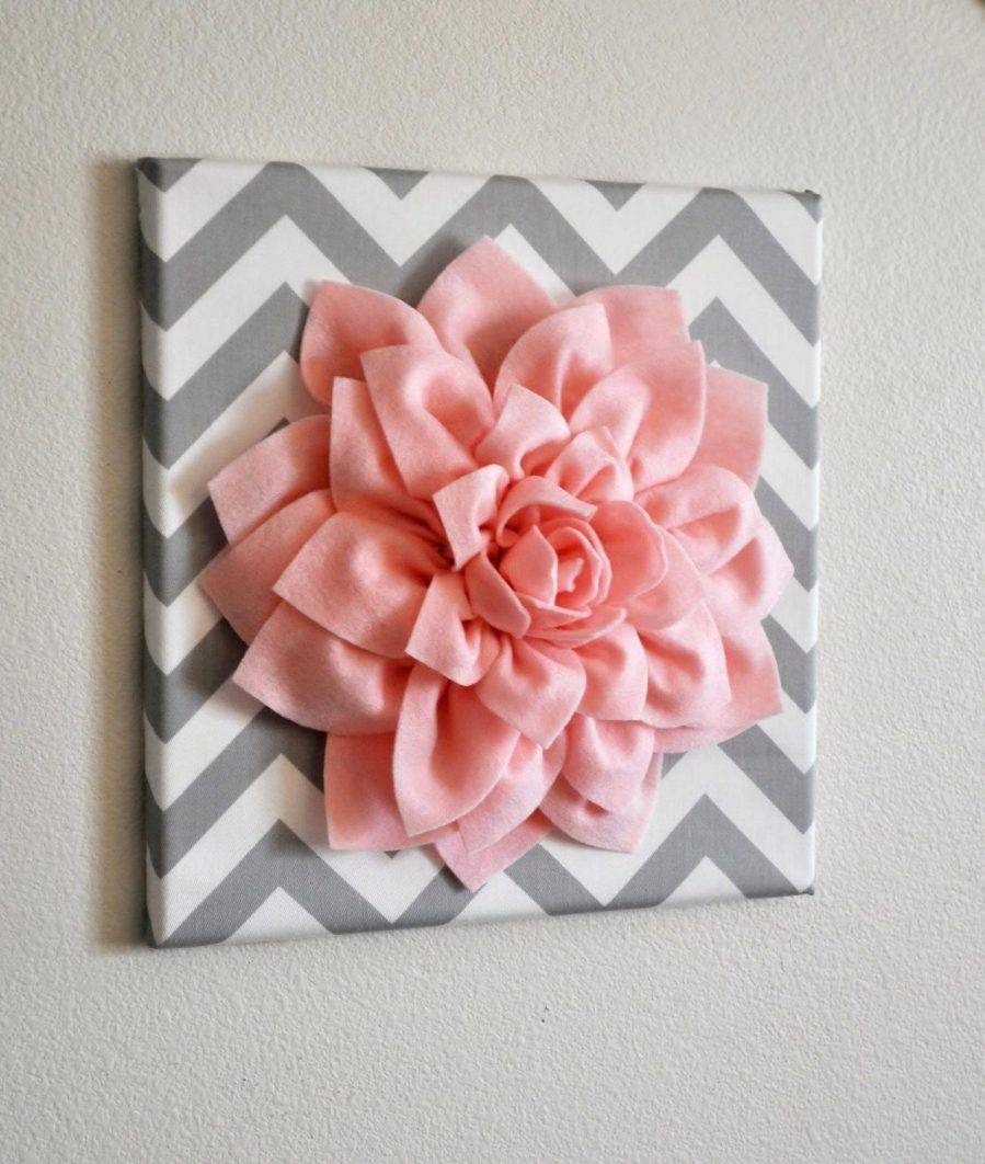 Wall Ideas : 3d White Flower Wall Art Black And White Flower With Regard To Recent Ceramic Flower Wall Art (View 8 of 30)