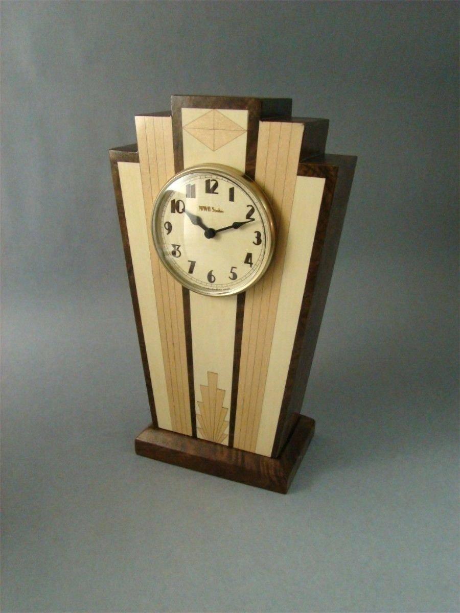 Wall Ideas : Art Deco Wall Clock Sticker Art Deco Wall Clocks Ebay Pertaining To Most Popular Large Art Deco Wall Clocks (View 16 of 30)