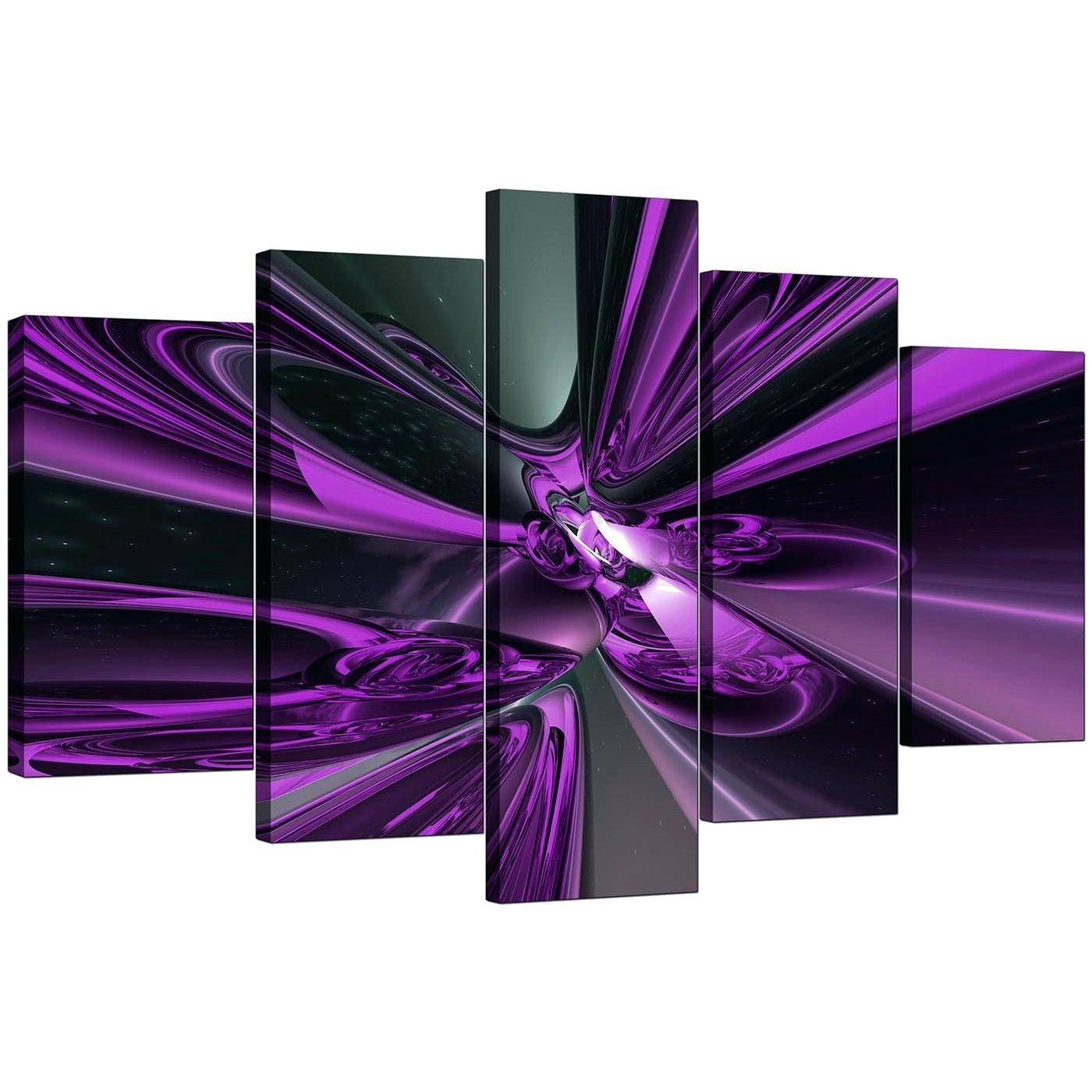 Wall Ideas : Cheap Purple Canvas Art Display Gallery Item 5 Set Of Pertaining To Current 4 Piece Canvas Art Sets (View 22 of 25)