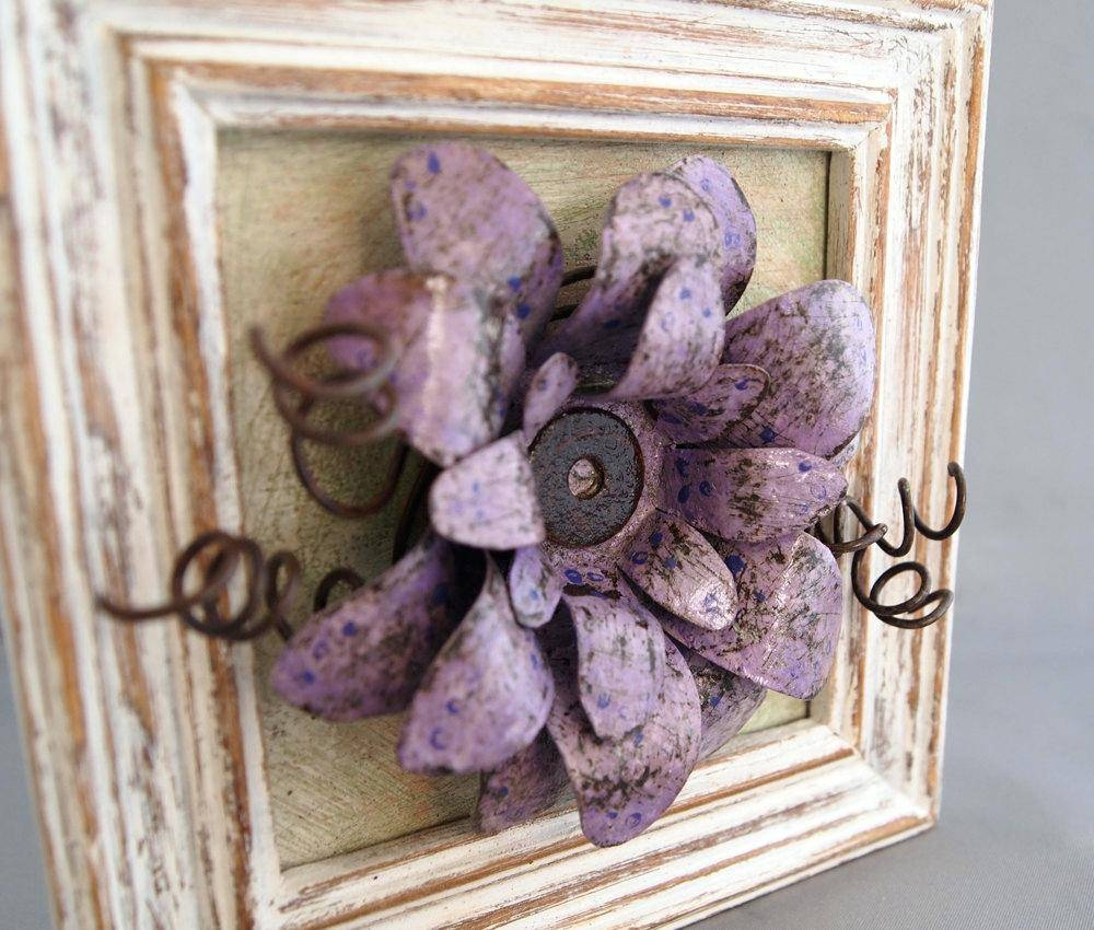 Wall Ideas : Contemporary Metal Wall Art Flowers Metal Wall Art Inside Newest Purple Flower Metal Wall Art (View 23 of 25)