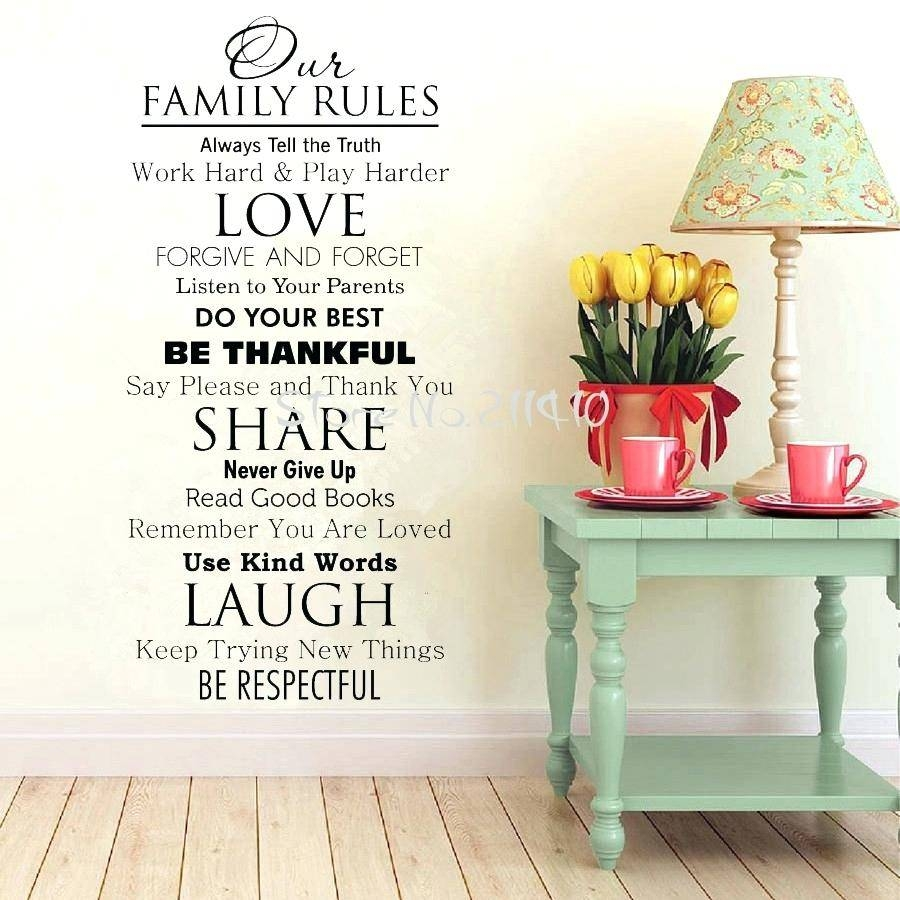 Wall Ideas : Family Rules Wall Art Kohls Family Rules Canvas Wall Within Newest Kohls Wall Art Decals (View 13 of 21)