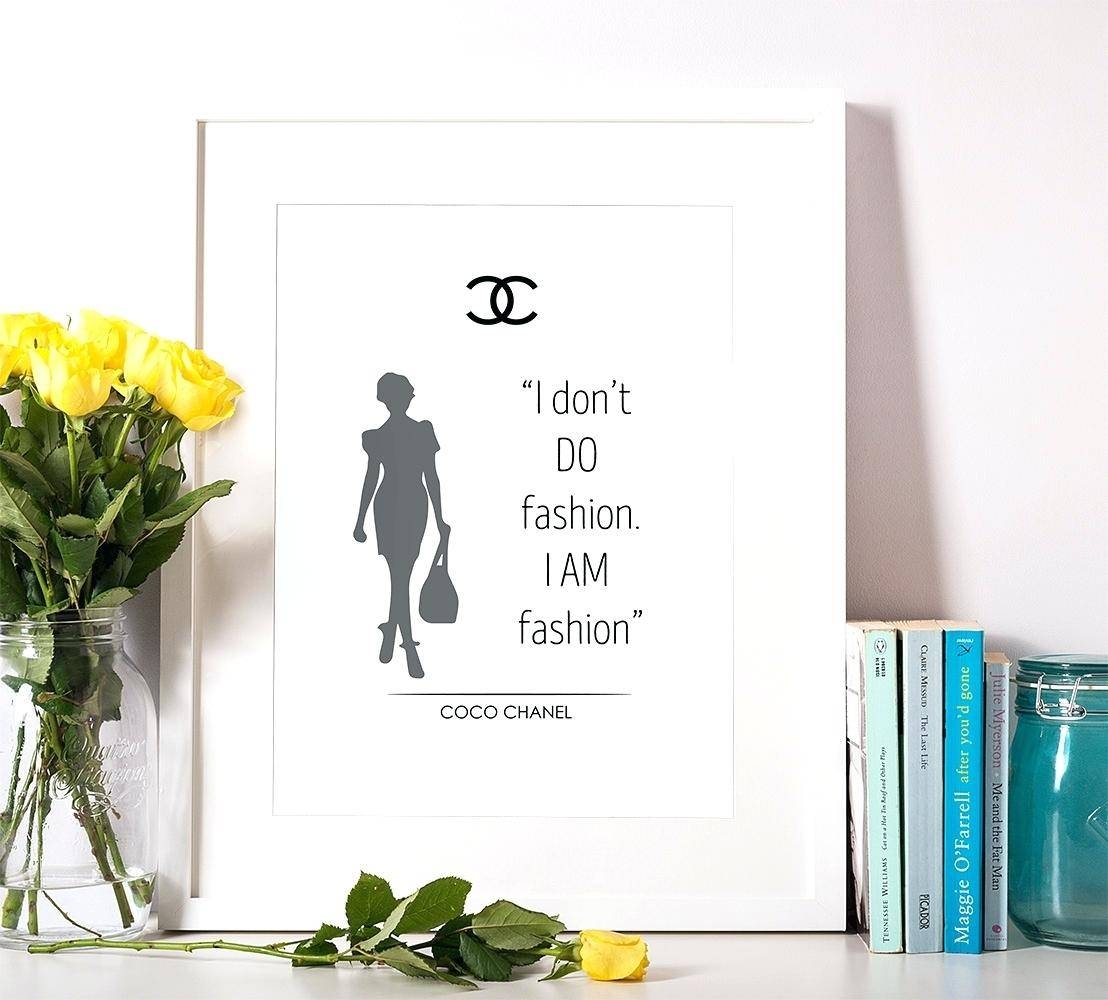 Wall Ideas : Gallery Photo Gallery Photo Gallery Photo Gallery Regarding 2017 Coco Chanel Quotes Framed Wall Art (View 29 of 30)