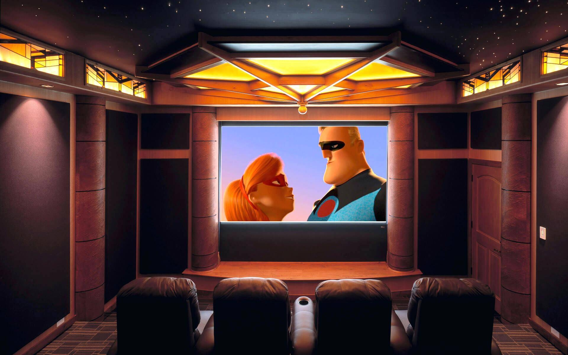 Wall Ideas: Home Theater Wall Decor (View 28 of 30)