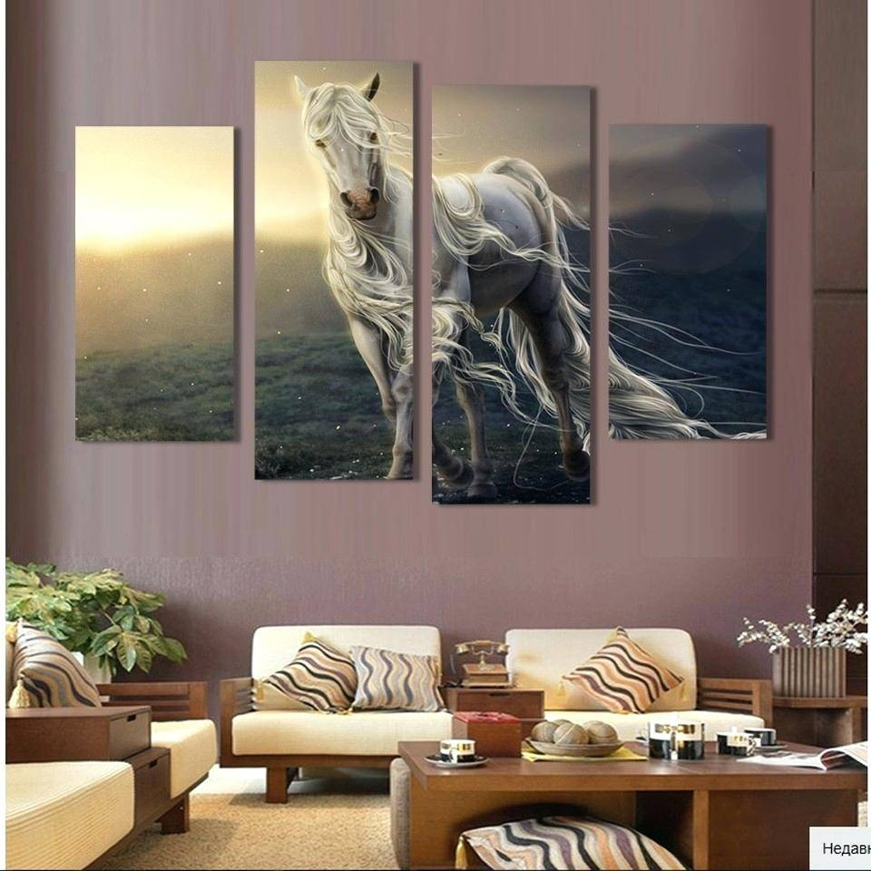 Wall Ideas : Horse Canvas Wall Art Decor Canvas Wall Art Modular Inside Latest Modular Wall Art (View 23 of 25)