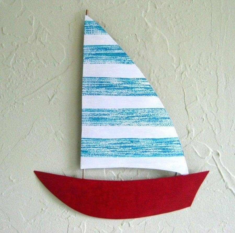 Wall Ideas : Large Metal Sailboat Wall Art Rustic Sailboat Wooden For 2018 Sailboat Metal Wall Art (Gallery 25 of 30)