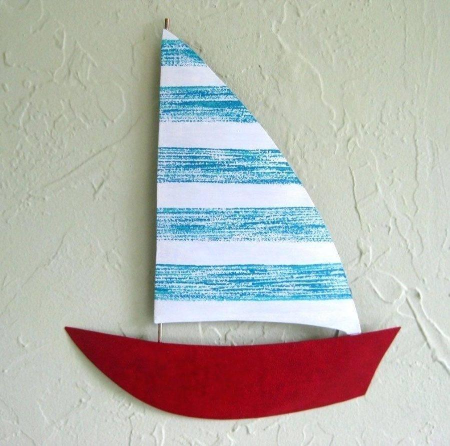 Wall Ideas : Large Metal Sailboat Wall Art Rustic Sailboat Wooden For 2018 Sailboat Metal Wall Art (View 29 of 30)