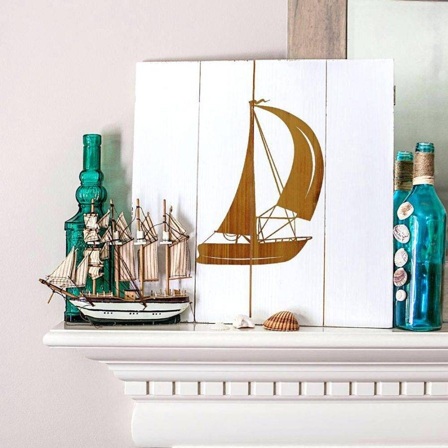 Wall Ideas : Large Metal Sailboat Wall Art Rustic Sailboat Wooden Within Most Popular Metal Sailboat Wall Art (View 25 of 30)
