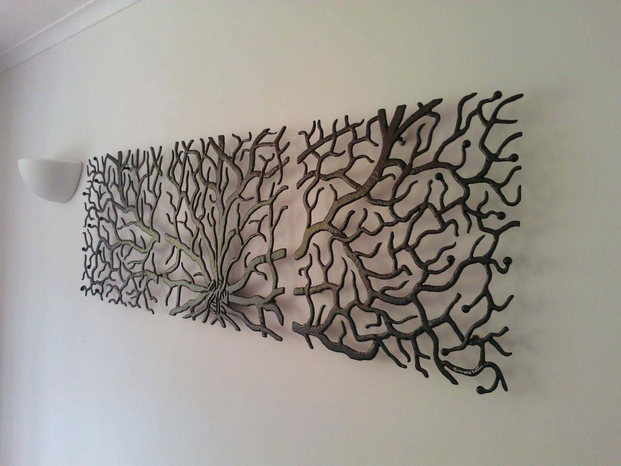 Wall Ideas : Metal Wall Art Large Trees Metal Wall Art Palm Trees With Regard To Most Popular Fish Shoal Metal Wall Art (Gallery 20 of 30)