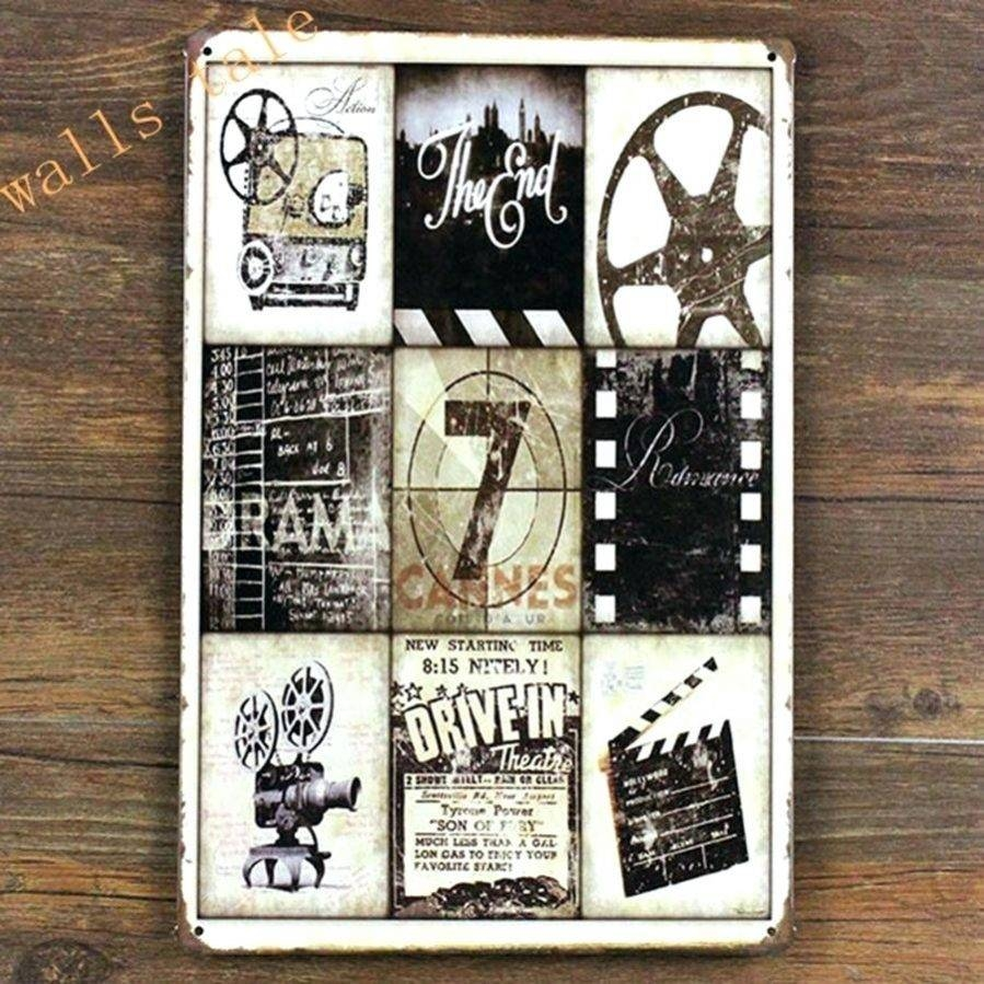 Wall Ideas : Movie Reel Wall Decor Star Wars Watercolor Art Print With Regard To Current Home Theater Wall Art (View 2 of 30)