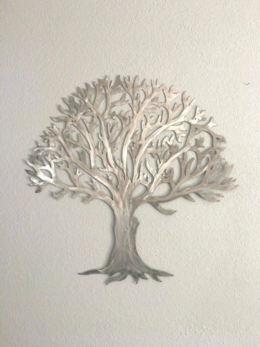 Wall Ideas : Oak Tree Large Metal Wall Art Tree Of Life Metal Wall For Most Current Oak Tree Metal Wall Art (View 25 of 30)