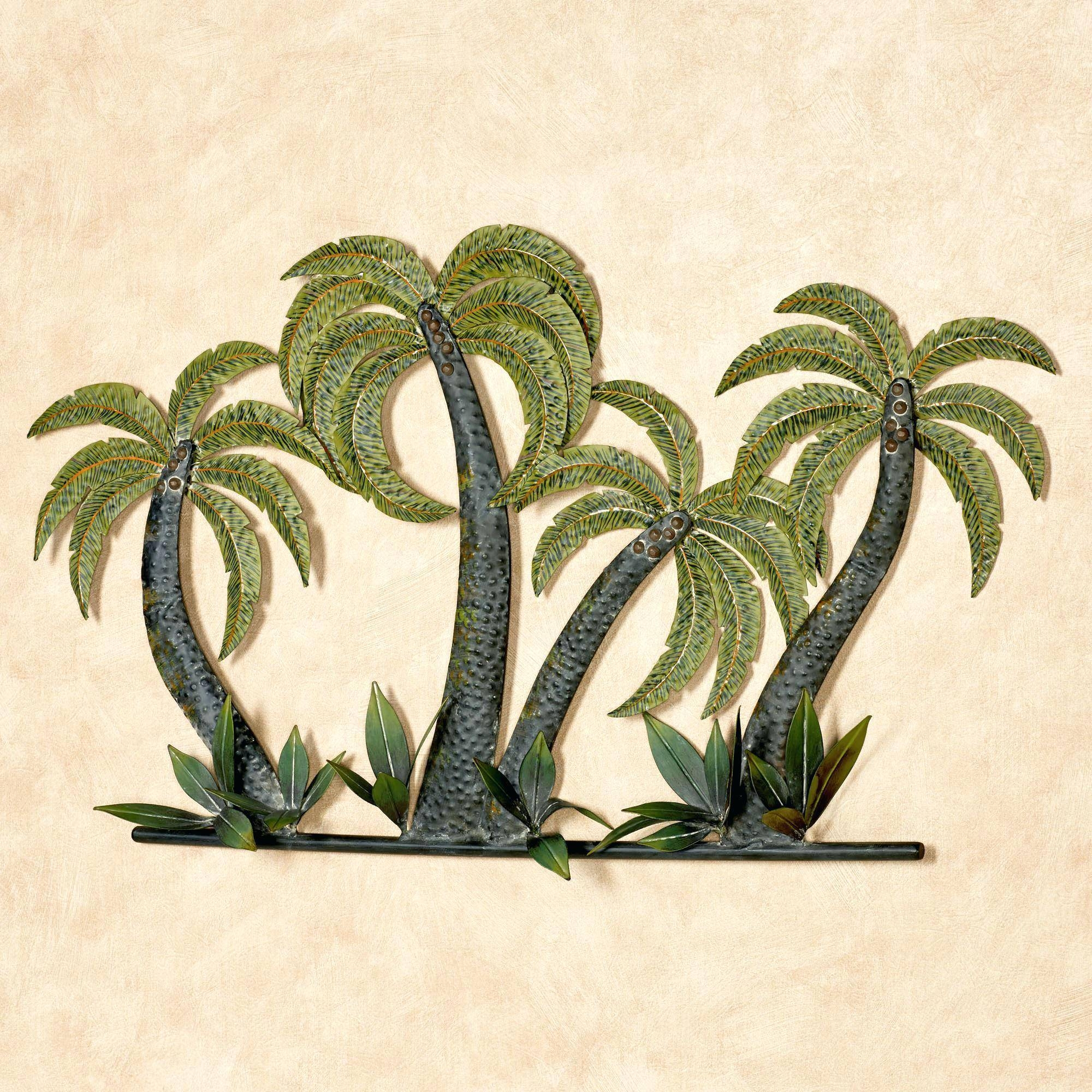 Wall Ideas: Palm Tree Wall Art. Coconut Palm Tree Oasis Metal Wall Throughout Most Recently Released Palm Tree Metal Art (Gallery 20 of 25)