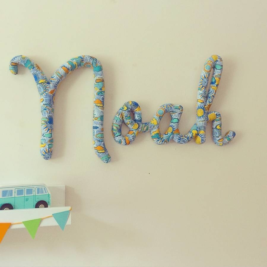 Wall Ideas: Personalized Name Wall Art Images (View 19 of 20)
