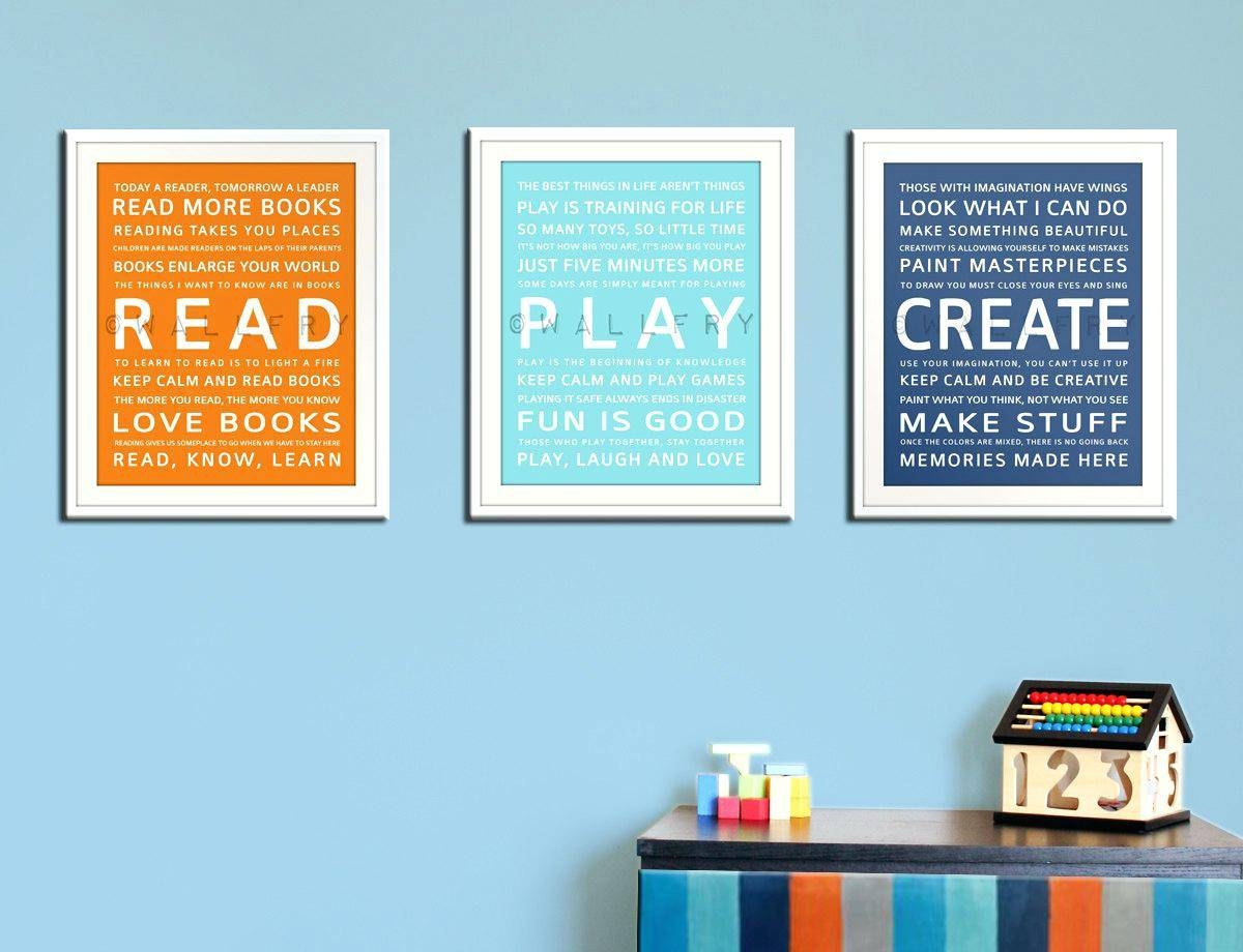Wall Ideas : Playroom Wall Decor Ideas Playroom Wall Decor Wall Pertaining  To Newest Wall Art
