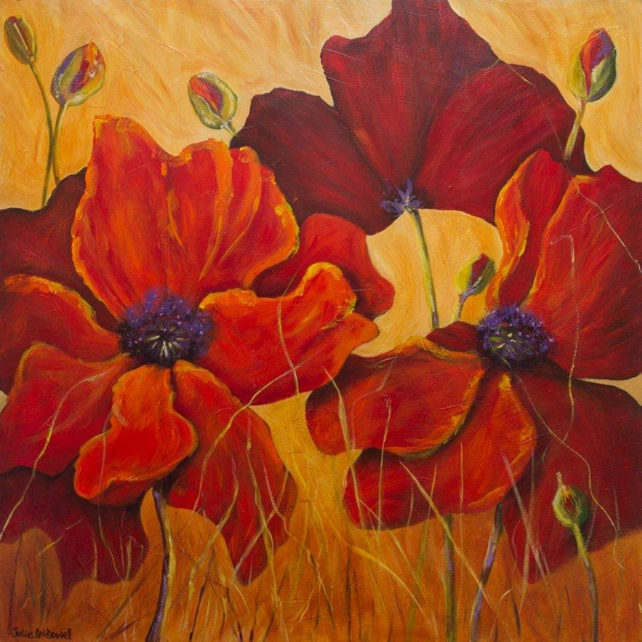 Wall Ideas: Poppies Wall Art Photo. Poppy Wall Art In Red (View 8 of 30)
