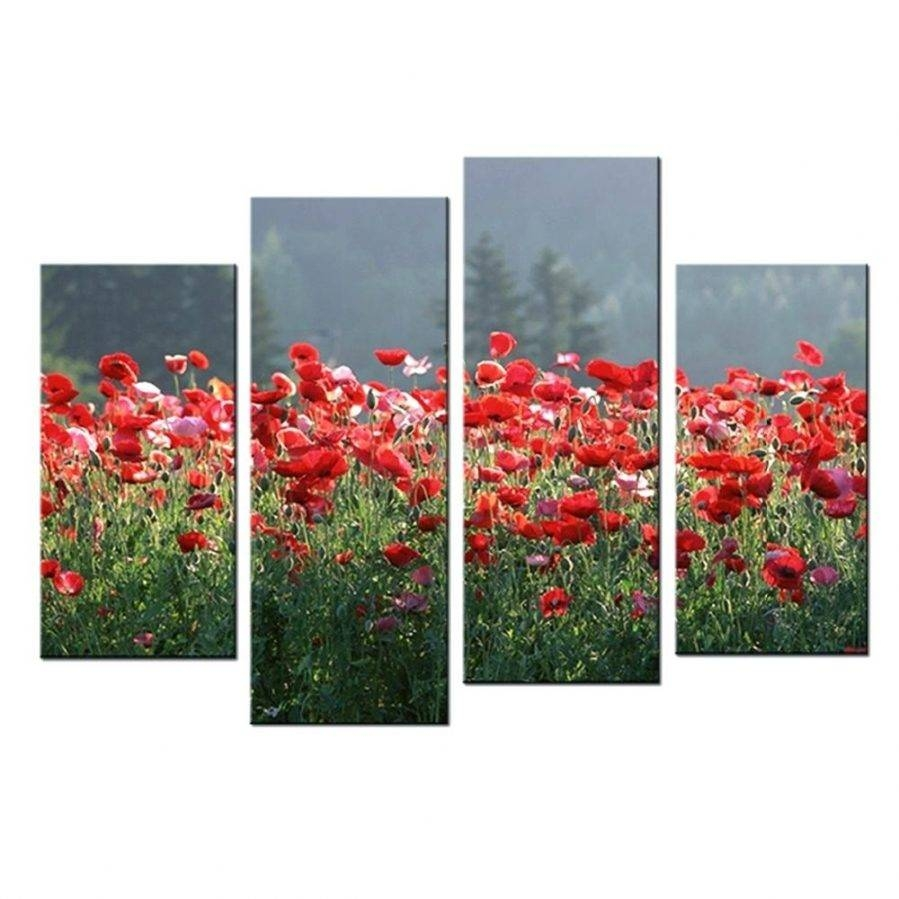 Wall Ideas : Poppy Wall Art Stickers Poppy Wall Art In Red Poppies Regarding Most Current Metal Poppy Wall Art (View 12 of 30)