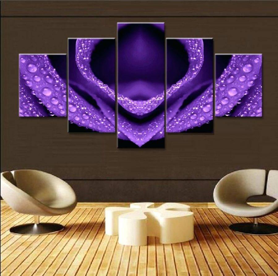 Wall Ideas: Purple Flower Wall Art (View 20 of 30)