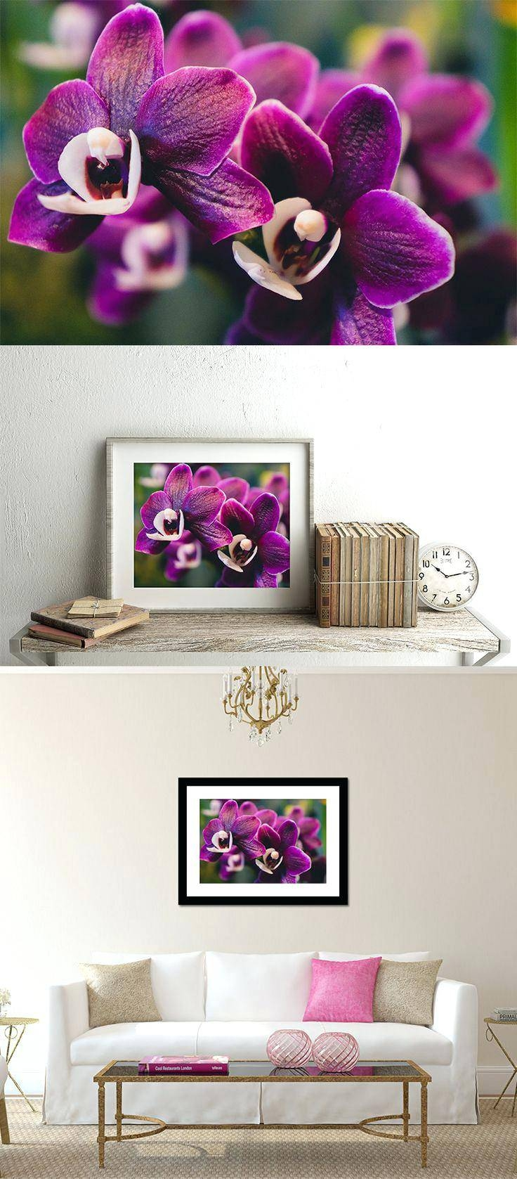 Wall Ideas: Purple Flower Wall Art (View 28 of 30)