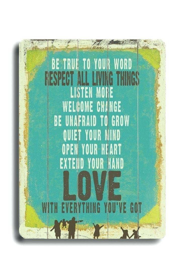Wall Ideas : Quotes Wood Wall Art Wood Word Wall Art Wood Word Throughout Latest Wooden Word Wall Art (View 23 of 30)