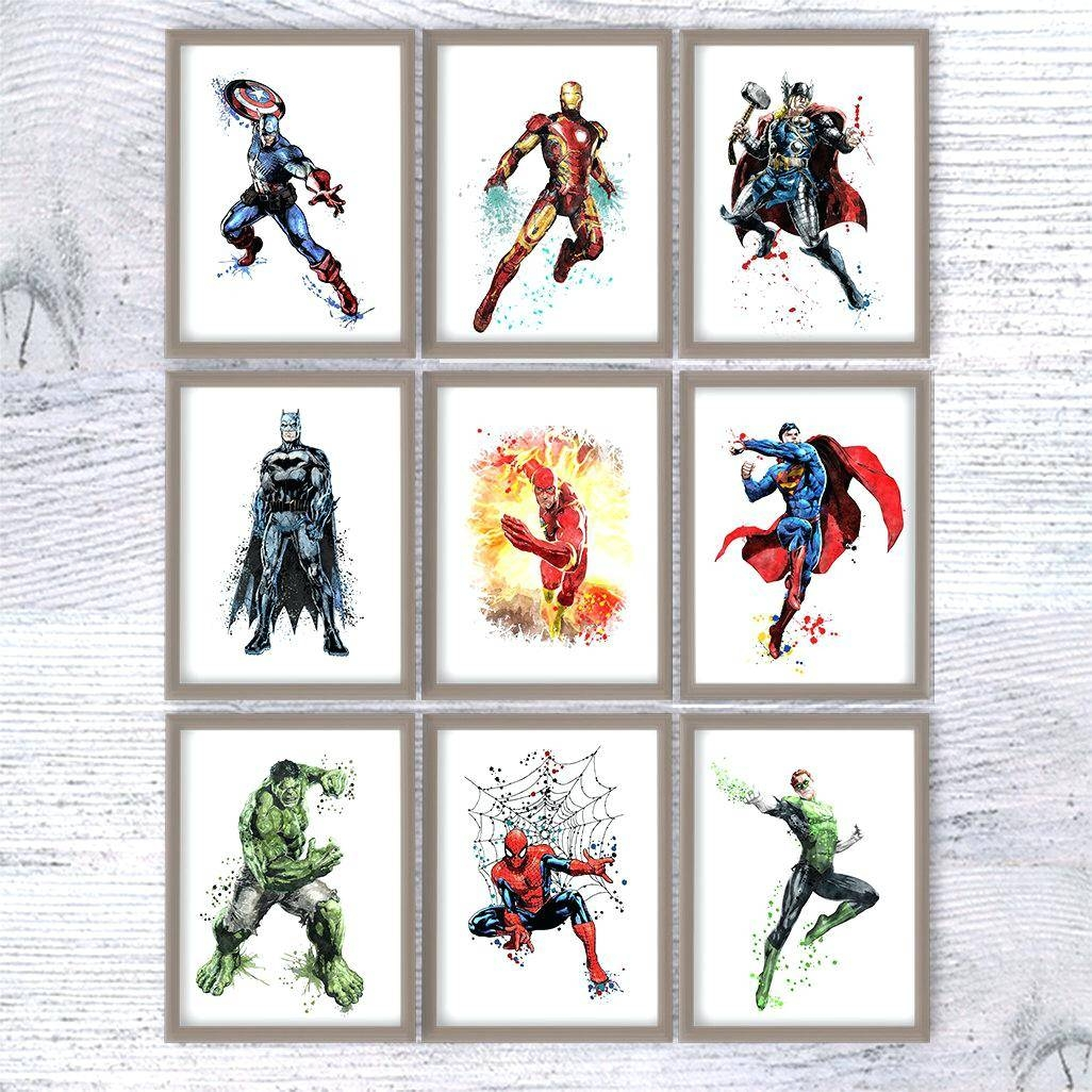 Wall Ideas: Superhero Wall Art (View 20 of 25)