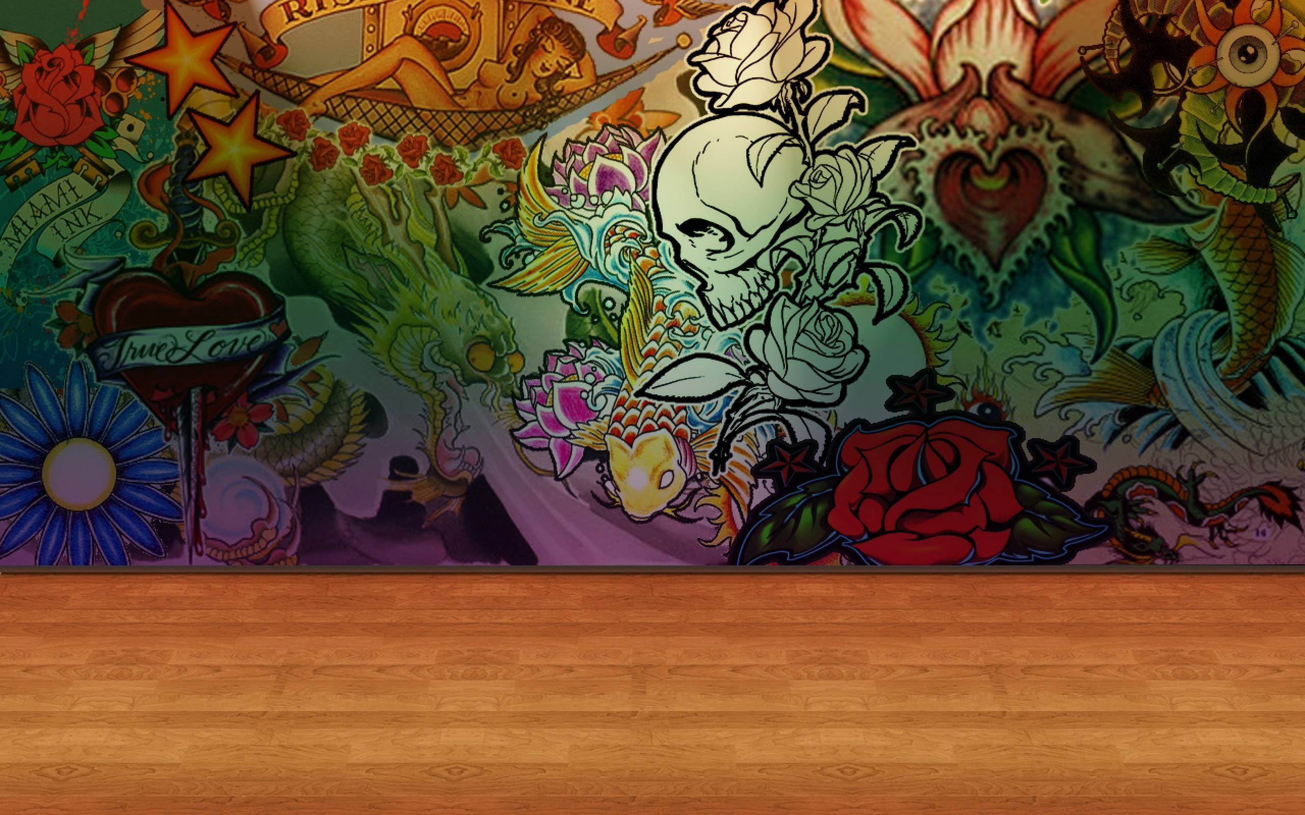 Wall Ideas: Tattoo Wall Art Photo. Tattoo Wall Canvas (View 2 of 20)