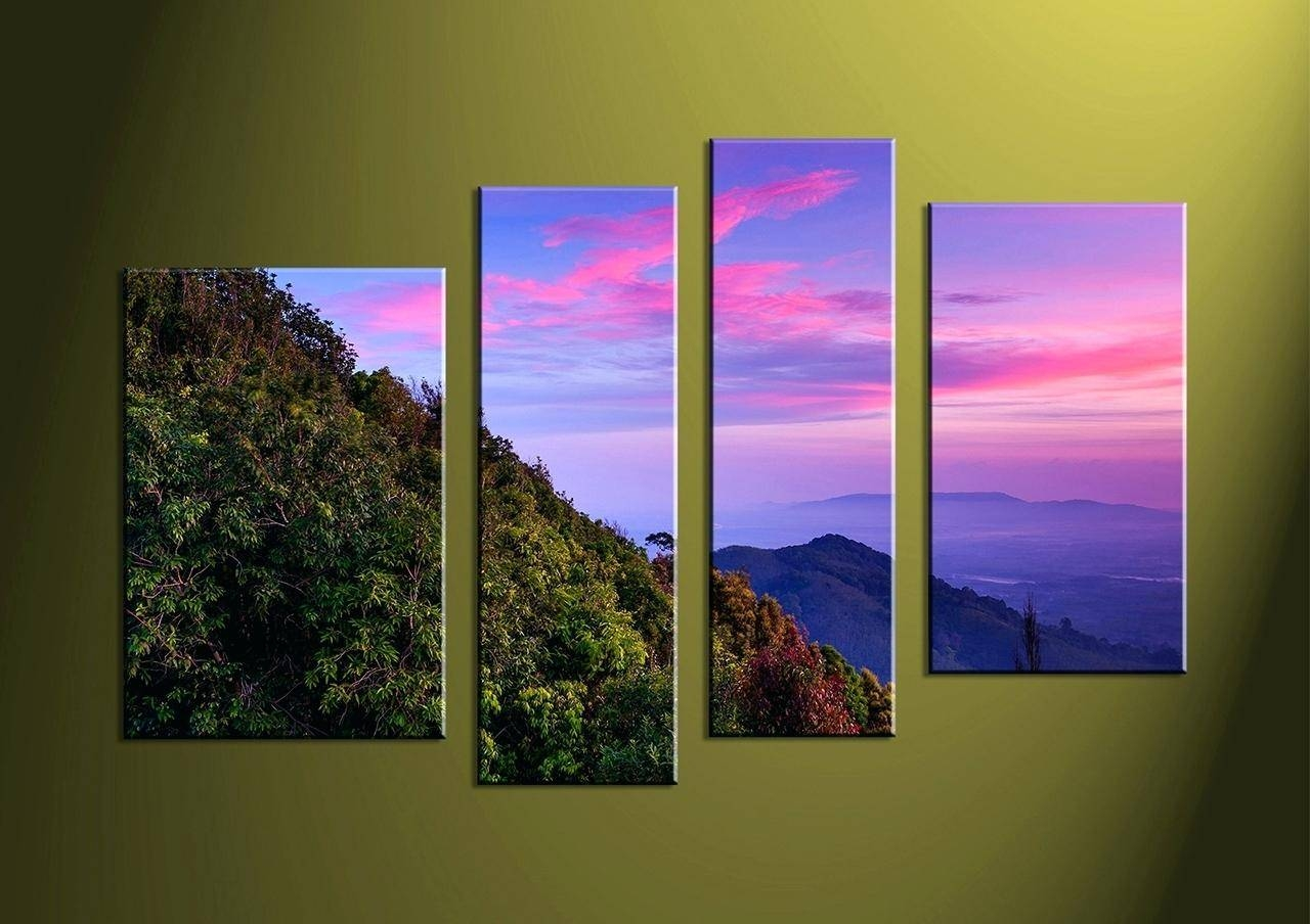 Wall Ideas : Wall Art Exciting Multi Piece Wall Art 3 Piece Wall With Recent 4 Piece Canvas Art Sets (View 10 of 25)