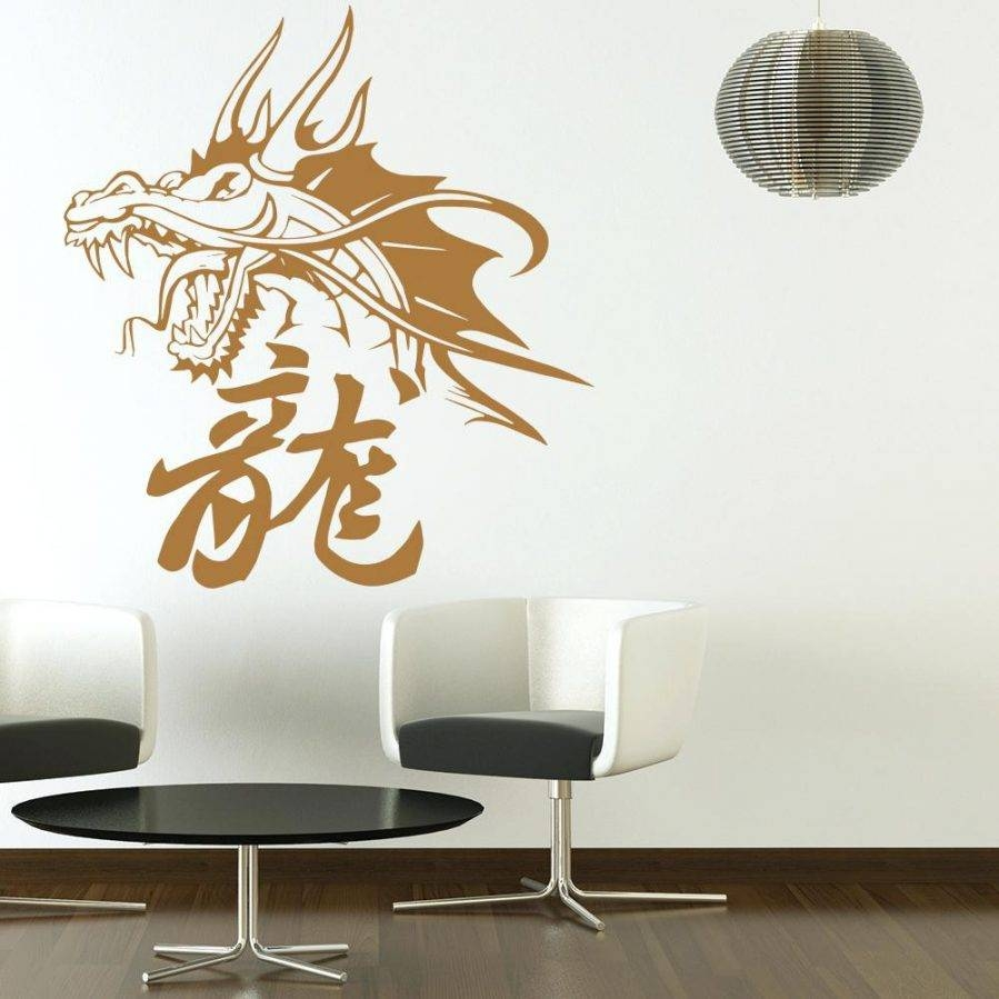 Wall Ideas : Wall Decal Artwork Decal Wall Art Nz Oriental Dragon For 2017 Chinese Symbol Wall Art (View 3 of 30)