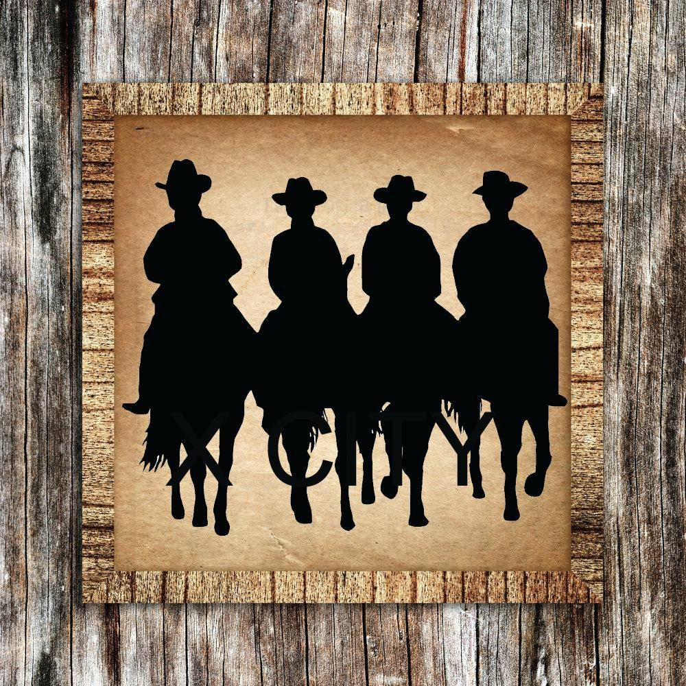 Wall Ideas : Western Metal Art Wall Hangings Western Wall Art For With Regard To Most Current Western Metal Wall Art Silhouettes (View 23 of 30)