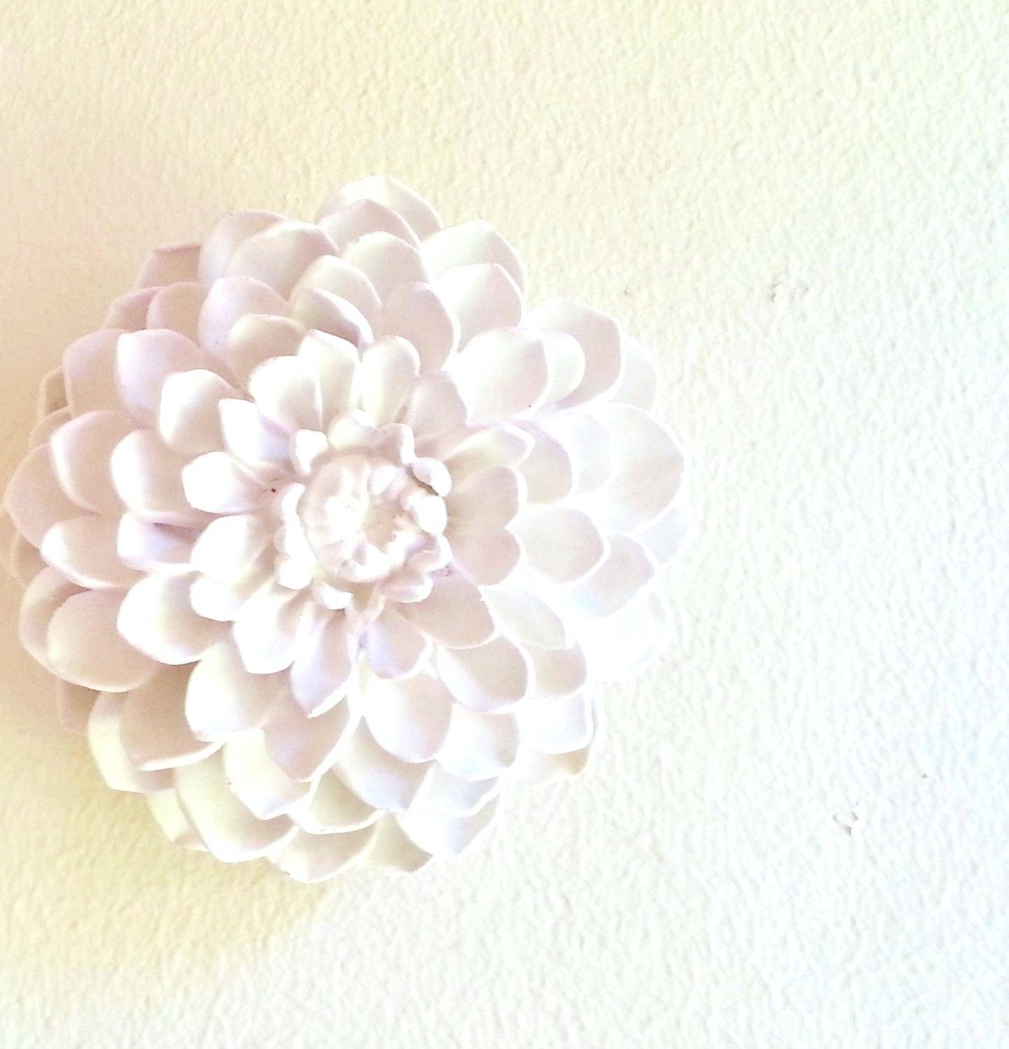Wall Ideas : White Ceramic Flower Wall Decor Black And White For Latest Ceramic Flower Wall Art (View 28 of 30)
