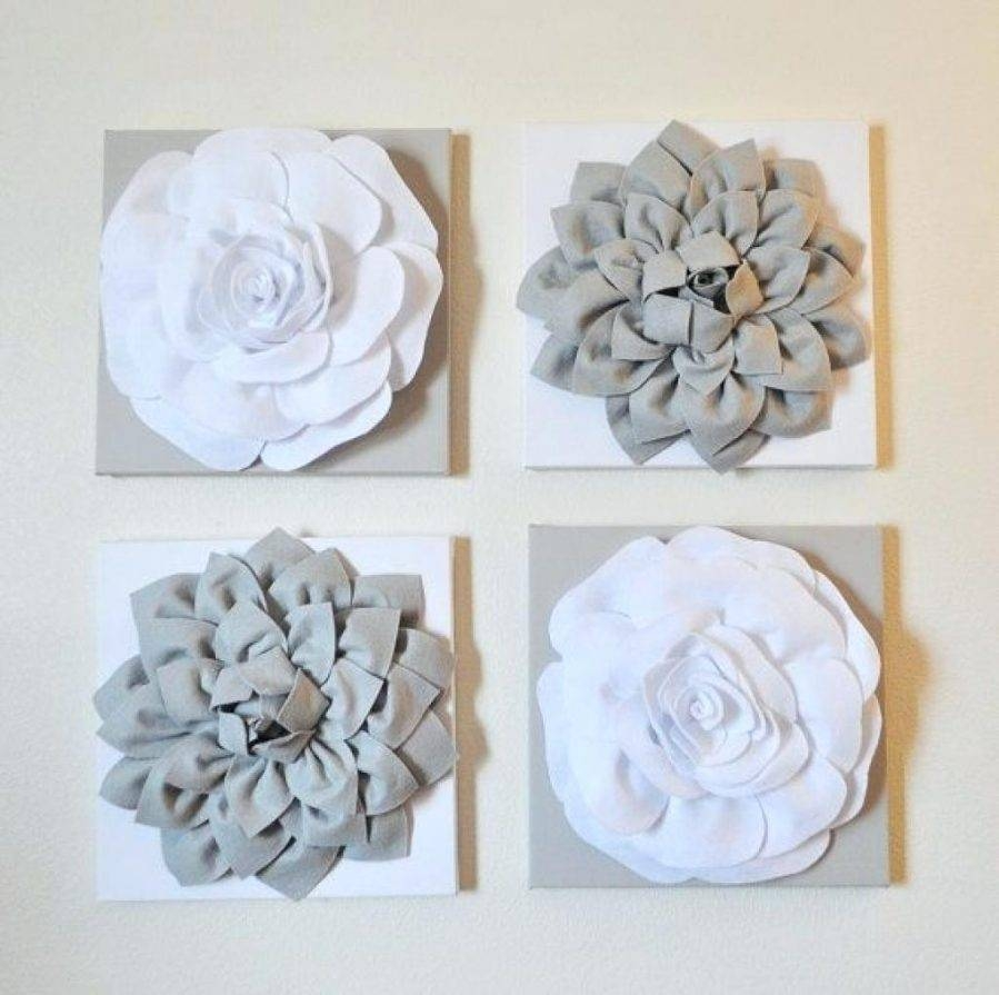 Wall Ideas : White Ceramic Flower Wall Decor Black And White With Regard To Newest Ceramic Flower Wall Art (View 11 of 30)