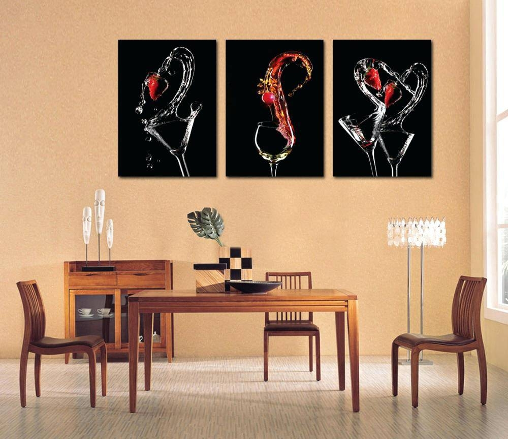 Featured Photo of 3 Piece Abstract Wall Art