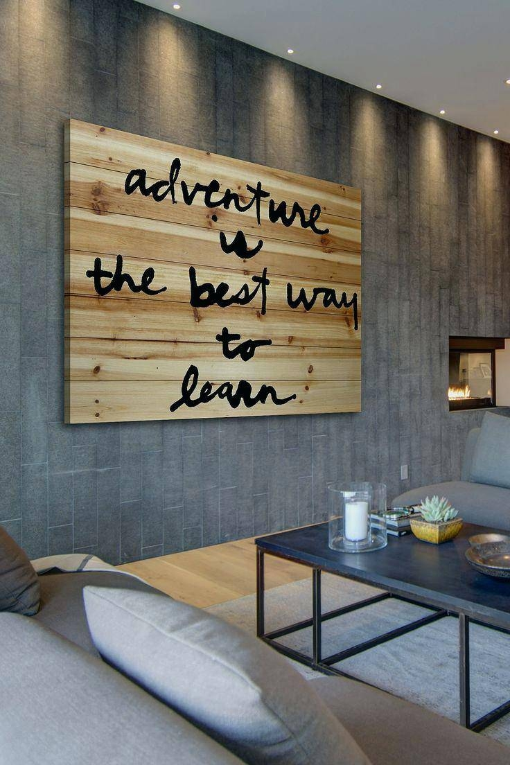 Wall Ideas: Wood Word Wall Art. Quotes Wood Wall Art (View 25 of 30)