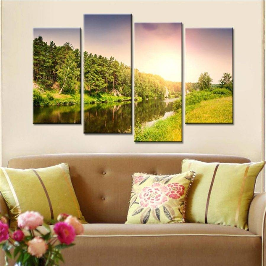 Top 30 of Mountain Scene Metal Wall Art