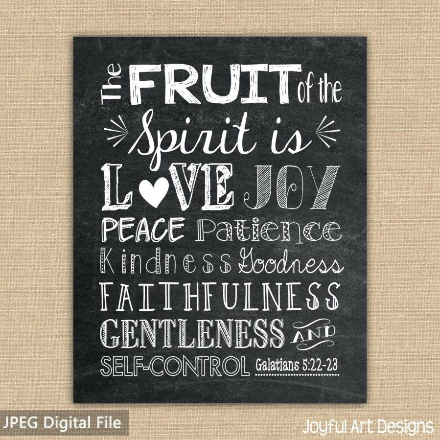 Wall Ideas : Zoom Christian Wall Decor For Kitchen Christian Wall For Recent Fruit Of The Spirit Wall Art (View 7 of 30)