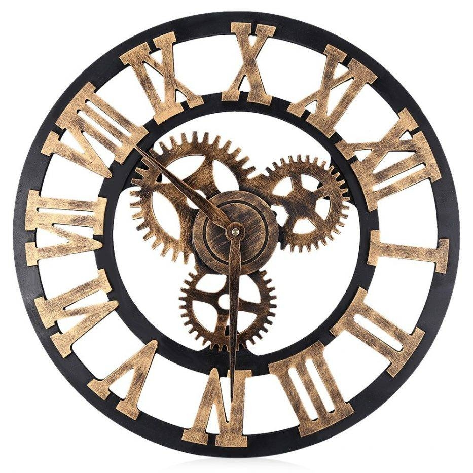 Wall Inch Digital Clocks Design Large Retro Decorative Clock Big Throughout Most Recently Released Large Retro Wall Art (View 24 of 25)